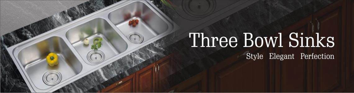 Three Bowl Sinks High Quality Stainless Steel Kitchen Sink