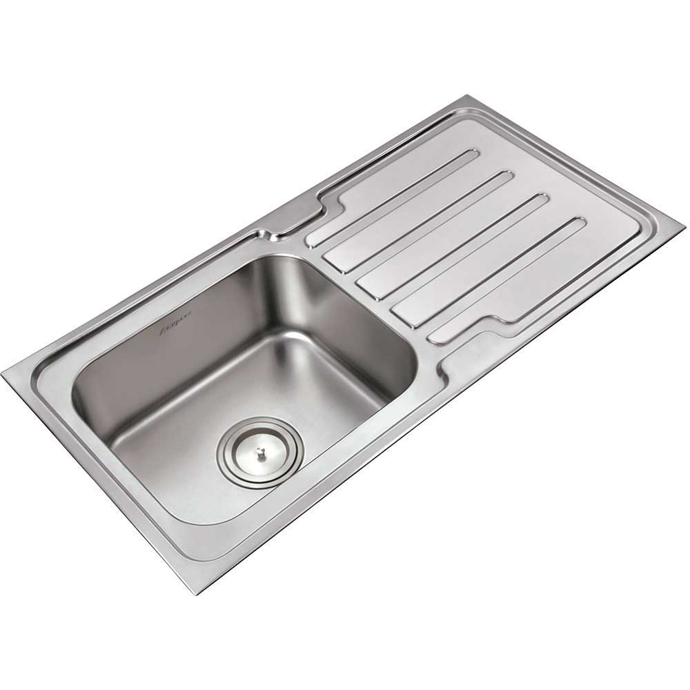 Anupam Sink 204a Single Bowl Sink With Single Drainboard
