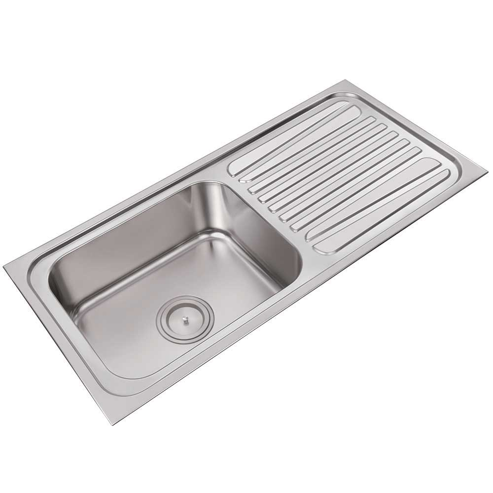 Single sink with drainboard high quality kitchen sinks for High quality kitchen sinks